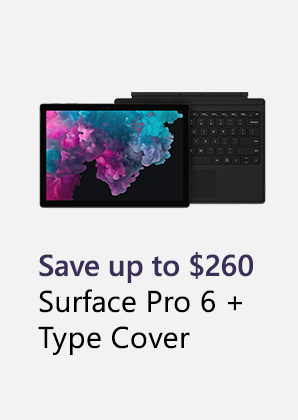 Surface Pro 6 plus type cover