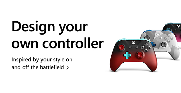 Design your own controller. Inspired by your style on and off the battlefield.