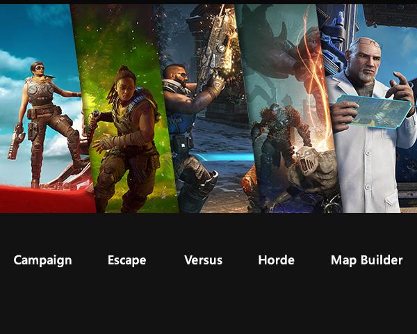 One epic experience. Campaign. Escape. Versus. Horde. Map Builder.